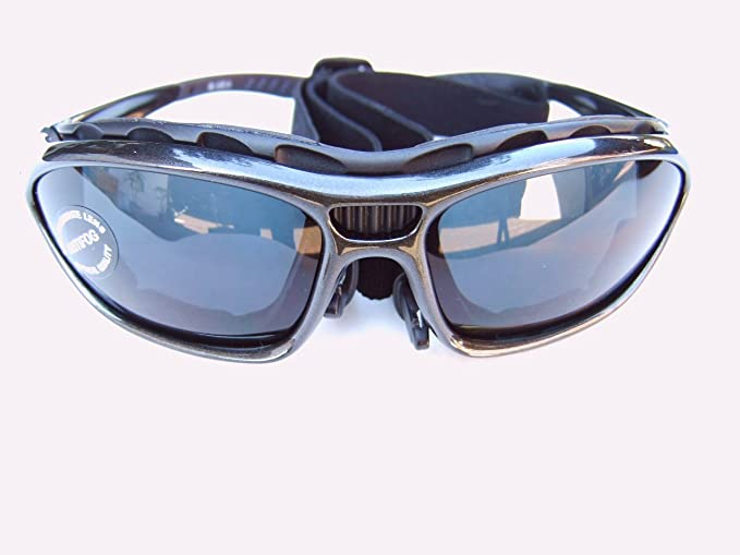 Alpland Lunettes de montagne Glacier Lunettes pour sports de ski Kitesurf  de cyclisme avec bande et sangle interchangeable – Verre fumée argentée  Miroir ... 82f6f0139d88