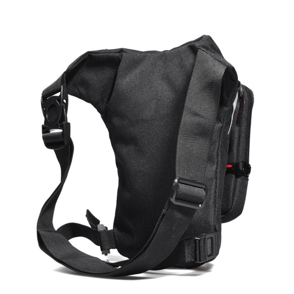 Sharplace Motorcycle Drop Leg Pouch Multi-purpose Bag Oxford Drop Leg Bag Motorcycle Thigh Bag Touch Screen Phone Bag for Outdoor Hiking Cycling Working