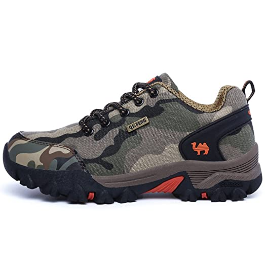 Women's and Men's Hiker Leather Winter Camouflage Hiking Boot Outdoor Backpacking Shoe
