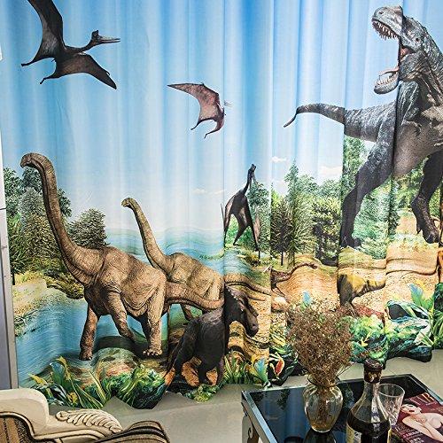 Wapel 3D Glacier Dinosaur Jurassic Cartoon Boy Boy Room Theme Room Background Wall Shade Curtain 240X260CM by Waple (Image #2)