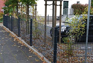 Zaun 25m Komplett-Angebot 1,83cm Höhe anthrazit Doppelstabmattenzaun ...