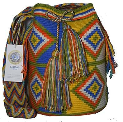 Mochila Wayuu Ethnic 100% hand Woven Shoulder Bag