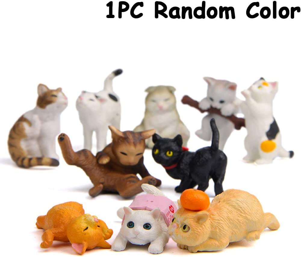 glückliche katze figuren cartoon tier mini catling kätzchen modelle