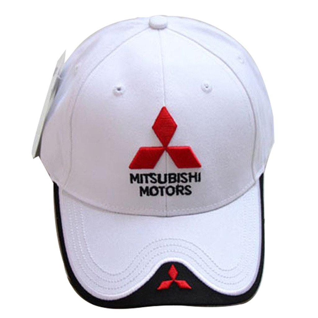調節可能なMoto GP Racing f1野球キャップスポーツ帽子Mitsubishiの  ホワイト B01IGU1WOS