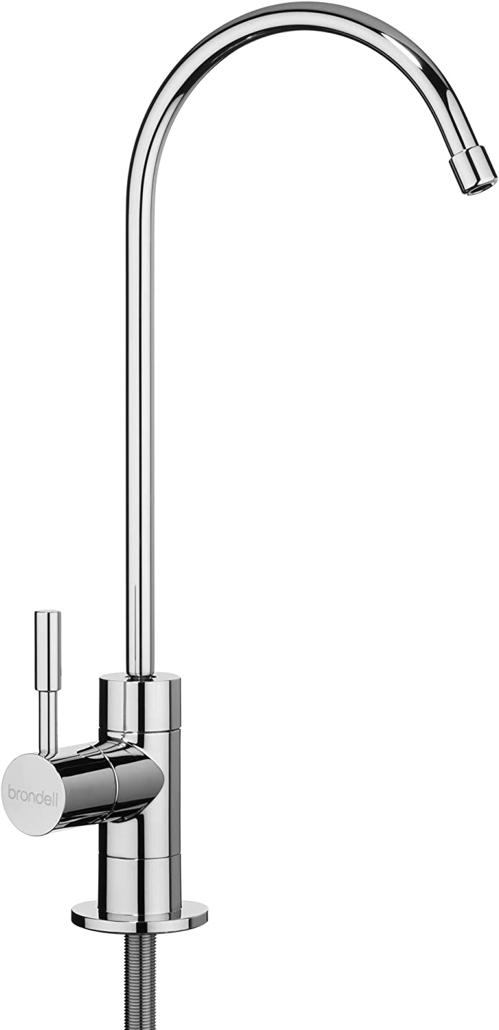 Brondell - Water Filter Faucet in Chrome - Universal sink faucet for Water Filtration systems - reverse osmosis, RO, undercounter, water purifier systems - Modern style in Polished Chrome