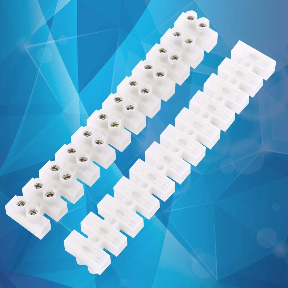 10pcs 360V 10A Dual Row Screw Terminal Block Electric Barrier 12-terminal Strip Block Quick Connector