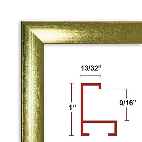 Amazon.com - 28 x 42 Shiny Gold Poster Frame - Profile: #93 Custom ...