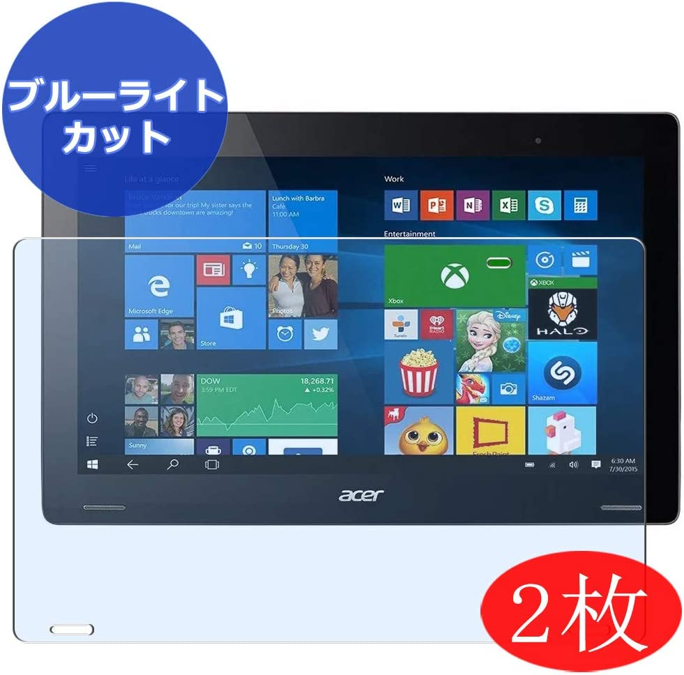 """【2 Pack】 Synvy Anti Blue Light Screen Protector for Acer Aspire Switch 12 SW7-272 / SW7-272P 12.5"""" Screen Film Protective Protectors [Not Tempered Glass]"""