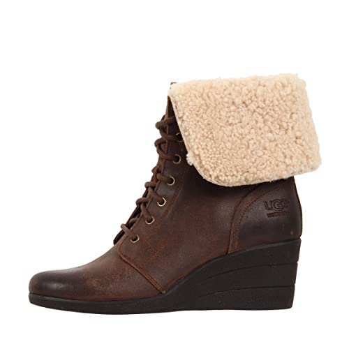 06ae1c0393a UGG Australia Zea Suede Women's Ankle Wedge Boots (7, Chocolate ...