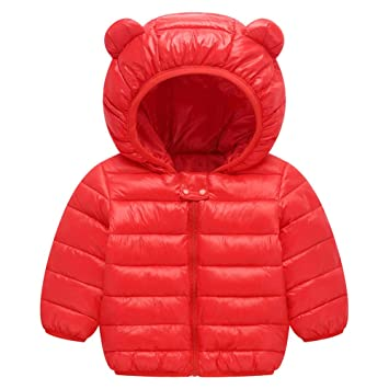 aimdonr Kleine Abrigos de Invierno para niños, ligera búfer Chaqueta para bebé joven de chica