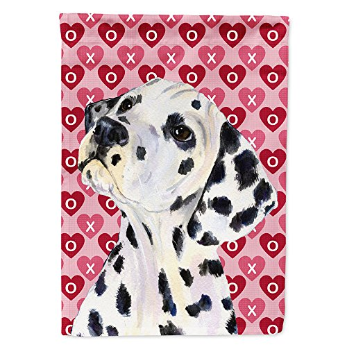 Caroline's Treasures SS4492GF Dalmatian Hearts Love and Valentine's Day Portrait Flag, Small, Multicolor ()