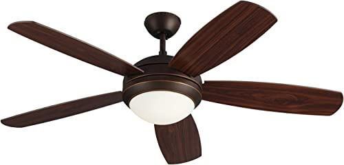 Monte Carlo 5DI52ESRBD Protruding Mount, 5 Roman Bronze Blades Ceiling fan with 13 watts light, Roman Bronze