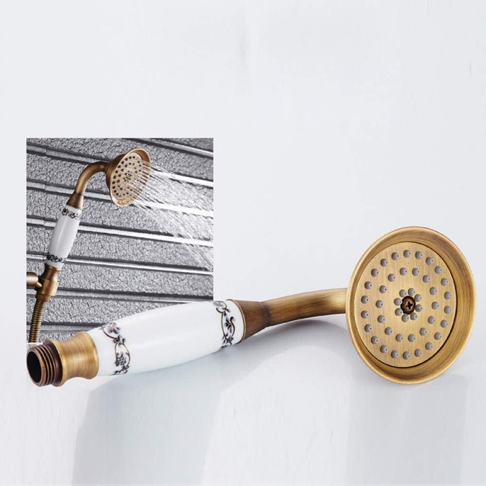 CENPEN Ensemble de douche classique de 20,3 cm en laiton antique r/églable en hauteur