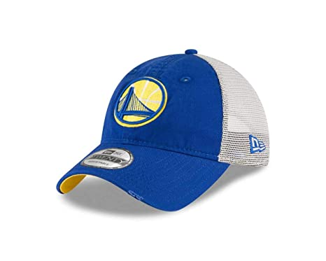 sneakers for cheap adfc0 97d08 ... sweden new era golden state warriors adult nba stated trucker meshback  hat team color adjustable e74c7