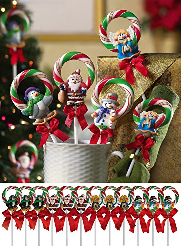 Christmas Wreath Candy Lollipops - Set of - Christmas Candy