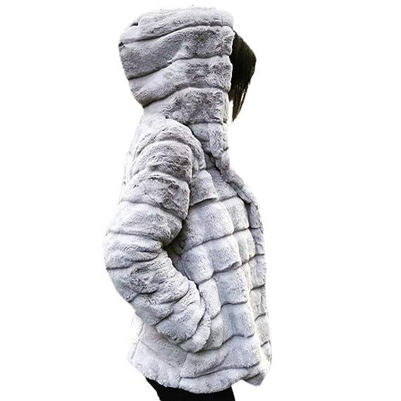 Abrigos de Mujer Visón cálido Invierno con Capucha Moda Faux Fur Chaquetas Ropa Interior Gruesa☆Rovinci☆: Amazon.es: Ropa y accesorios