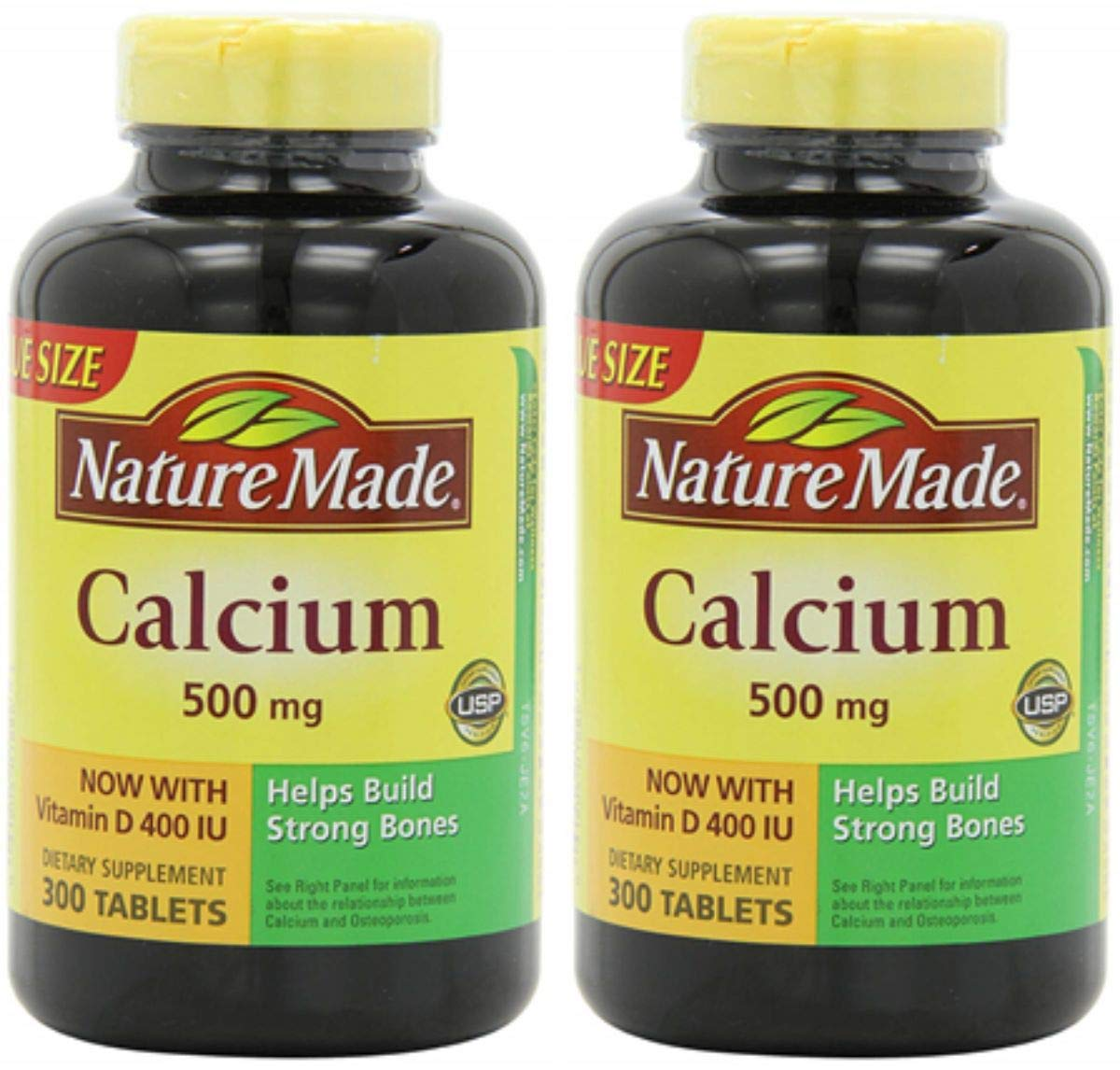 Nature Made Calcium (Carbonate) 500 mg w. Vitamin D3 400 IU Tablets 300 Ct (2 Pack 300 Count)