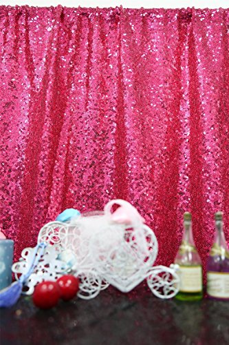 2FTx7FT-Sequin Backdrop-Fuchsia Sequin Backdrops Curtain Sequin Backdrop Photography Sparkly Backdrop Photo Booth Curtain For Your House Decoration