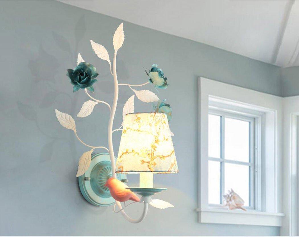 economico e alla moda Luce Luce Luce da parete in ferro Lampada da parete decorativa creativa per la camera da letto, soggiorno, balcone del muro del corridoio, blu (colore   B)  liquidazione fino al 70%
