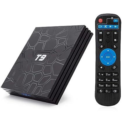 T9 Android 8 1 TV BOX, 4GB RAM 32GB ROM RK3328 Quad Core smart box supports  2 4Ghz WIFI USB 3 0 4K Resolution H 265 BT 4 1