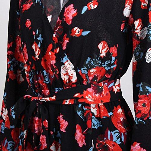 Damen AbendKleid Maxikleid Yogogo Damen Party Kleider Cocktail Lange ...