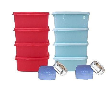 Tupperware - Juego de 4 etiquetas para congelador: Amazon.es: Hogar