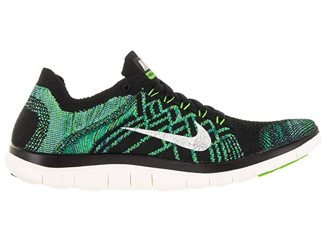 new styles 85a53 7a1ea Amazon.com   Nike Free 4.0 Flyknit Women s Running Shoes, 7, Black sail vltg  Green lcky Grn   Road Running