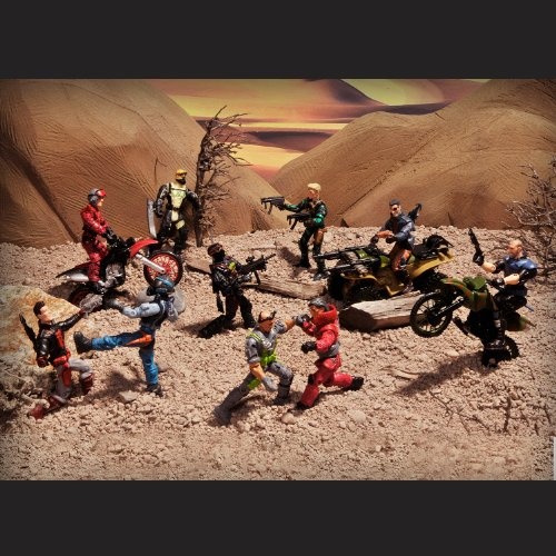 The Corps Special Forces Action Figures and Vehicle Deluxe Playset