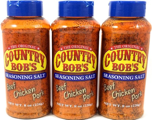 Country Bobs Seasoning Salt 8oz (Pack of 3) by Country Bob's