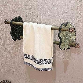 ZnzbztNuevo chino clásico baño decorado art deco creativas colgar toallas y baños, doble polo de madera maciza clo s, la luz de color verde: Amazon.es: ...