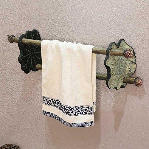 LHbox Tap Adornos Art Decó clásico Chino Creative Toallas baño baño Doble Barra de Madera, Ropa de Blanco: Amazon.es: Hogar