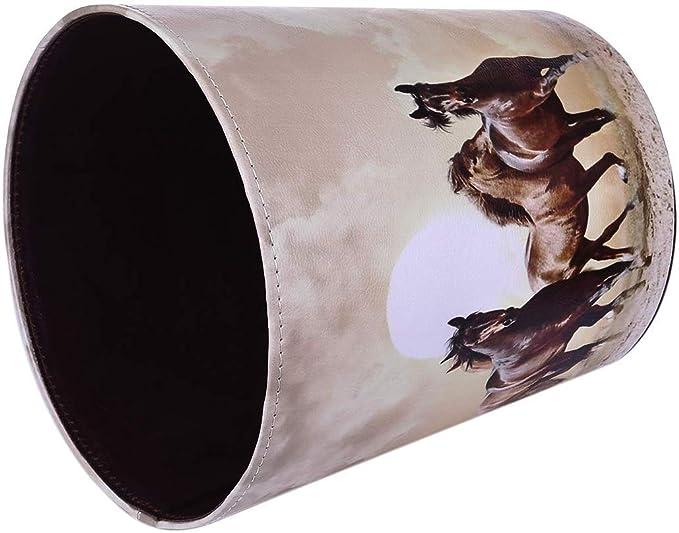 10L Papierk/örbe Kinderzimmer FBBM Papierkorb Kinder mit Motiv Pferd Wasserdicht M/ülleimer ohne Deckel f/ür Kinderzimmer Wohnzimmer Schlafzimmer B/üro Abfalleimer aus Leder