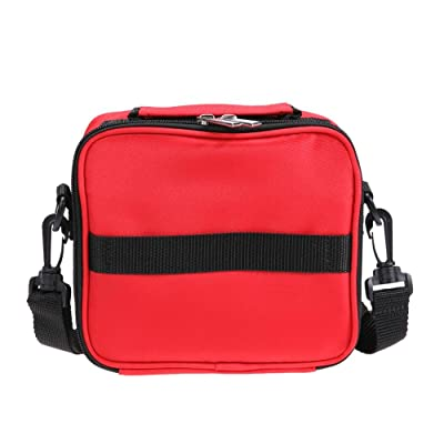 20 Lattices Portable Essential Oil Bottle Travel Storage Makeup Bag(Red)
