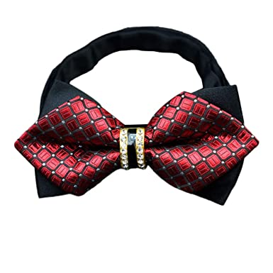 ADELINA Hombres ropa formal corbata de lazo diamantes novio ...
