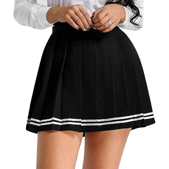 ranrann Falda Plisada para Mujer Uniforme de Escolar Japones ...