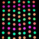 Midnight Glo 78ft Neon Paper Garland Circle Dots