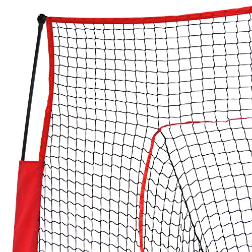 Super Deal 7'×7' Portable Baseball Softball Net w/Carrying Bag, Metal Bow Frame& Rubber Feet, for Training Hitting Batting Catching Practice by Super Dea (Image #2)