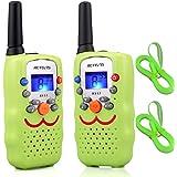 Retevis RT32 Walkie Talkie Niños PMR446 8 Canales VOX Linterna Pantalla LCD Walkie Talkie Juguete con Correa Regalo para…