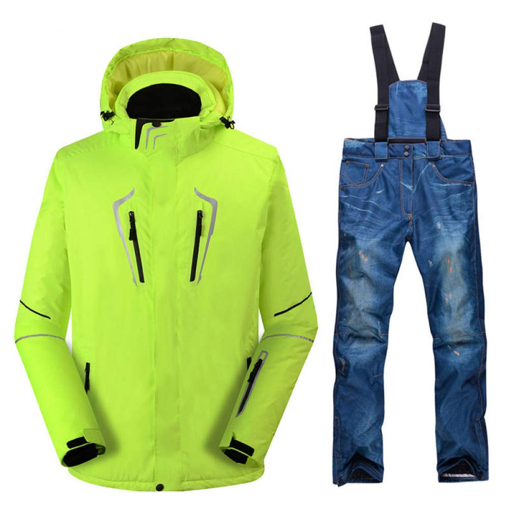 Zjsjacket Chaqueta de Esqui -30 Fluorescente Hombre Verde ...