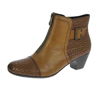 5fac3c7cf7baf Rieker Morgan Womens Ankle Boots 7.5/41 Mahogany: Amazon.co.uk ...