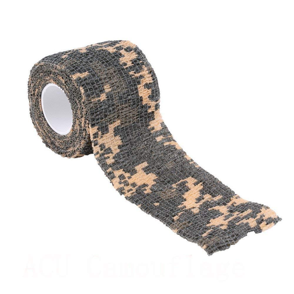 ezyoutdoor Pack of 10 pieces Non-Slip Camping Outdoor Military Camo Multi-functional Non-woven Camouflage Wrap Tape Waterproof Camo Stealth Tape,Random Color
