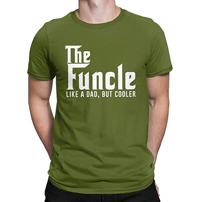 b2fa3121 AMANTSHIRTS Gift for Uncle Funny T Shirt The Funcle Like A Dad But Cooler  Tops Tees