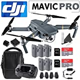 Cheap DJI Mavic Pro Collapsible Quadcopter Premium Combo: Includes DJI Shoulder Bag, 5 Intelligent Flight Batteries, Car Charger, Charging Hub, Spare Propellers, 2x SanDisk 64GB MicroSD Cards and more…
