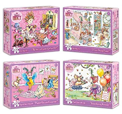 Fancy Nancy Glitter Puzzles - Series 1 Pack Of 4 by Briarpatch