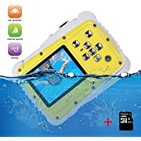 Kids Digital Camera Video Recorder-IP68 Waterproof Camera, Underwater Digital Action Camera Kids, 2.0 Inch LCD Display,16G TF Card Include,8X Digital Zoom, Flash and Mic for Boys Girls Gift Toys