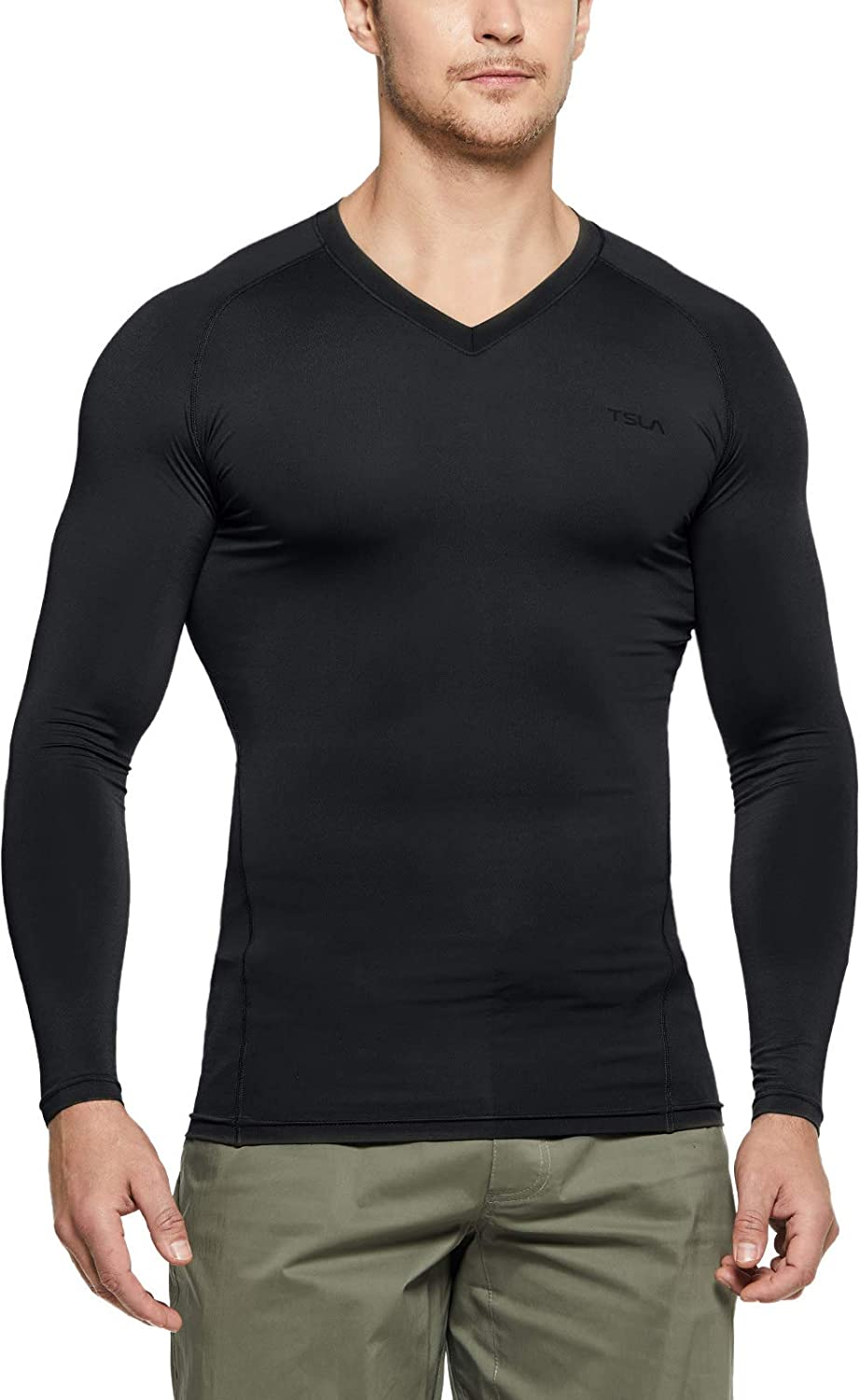 Details about  /Men/'s Athletic Compression Tops Sports Gym Running Long Sleeves T-Shirt Cool Dry