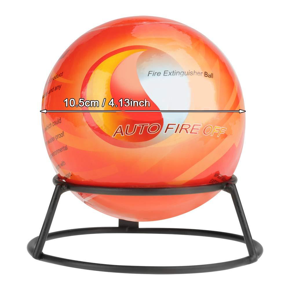 Mini Sfera di estintori automatica con staffa di montaggio a parete Strumento di perdita di palla auto estintore self-activation di sicurezza mediante sensore di incendio 1.3 arancione