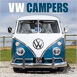 badacafd2face4 VW Camper Calendar- Calendars 2018 - 2019 Wall Calendars - Car Calendar -  Automobile Calendar - VW Campers 16 Month Wall Calendar by Avonside  ...