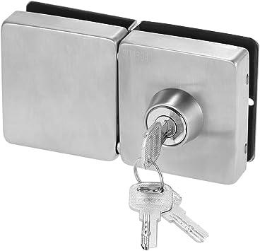 OWSOO Cerradura para Puerta de Cristal 10-12mm con 3 Llaves, Cuadrado: Amazon.es: Bricolaje y herramientas