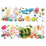 7ProductGroup Huge Size Cartoon Heart Tree Butterfly Wall Decals Removable Wall Decor Decorative Painting Supplies & Wall Treatments Stickers for Girls Kids Living Room Bedroom (Multicolor)